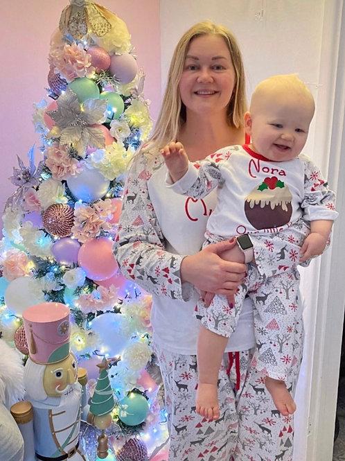 Christmas Pudding Family Pyjamas - kids