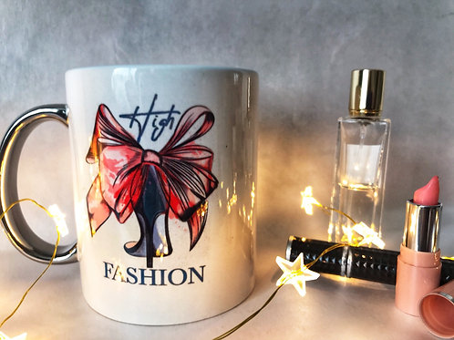 Silver handle High Fashion mug