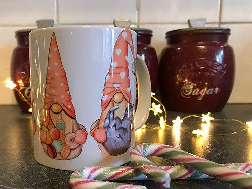 Pink Christmas Gnome mug