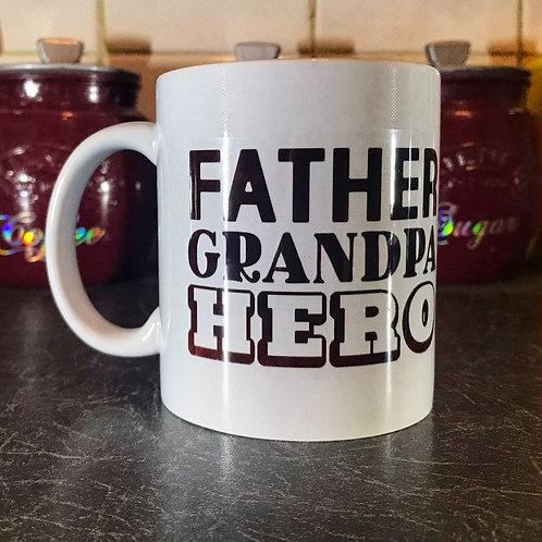 Father/Grandad/Hero Mug