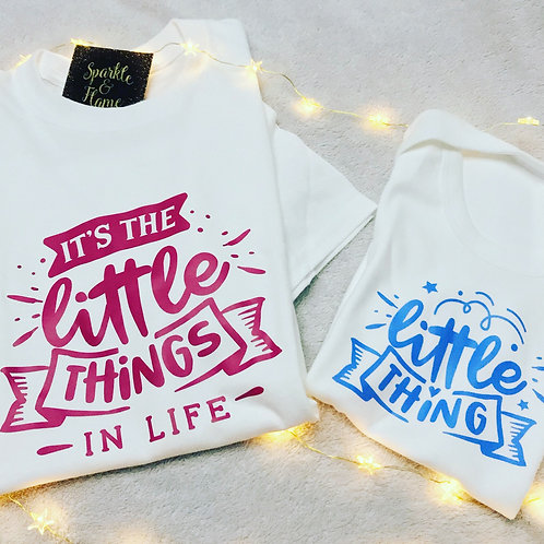 It's the little things parent and child top set