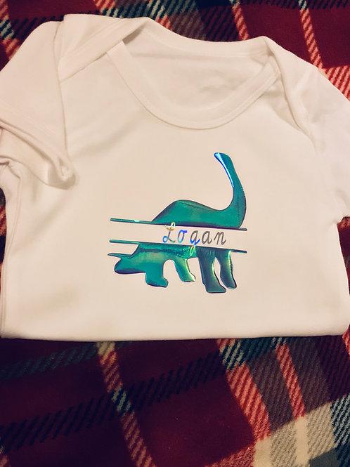 Dinosaur Name Babygrow