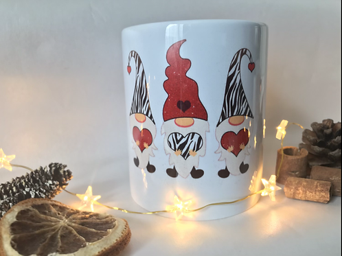 Zebra print Gonks mug