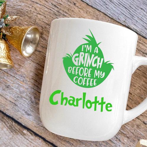Personalised Grinch Mug