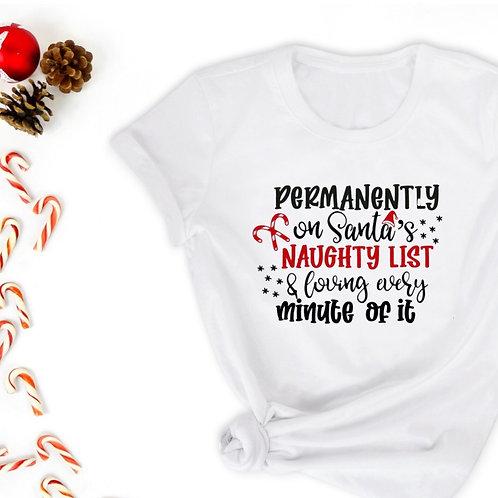 Santa's Naughty List T-shirt