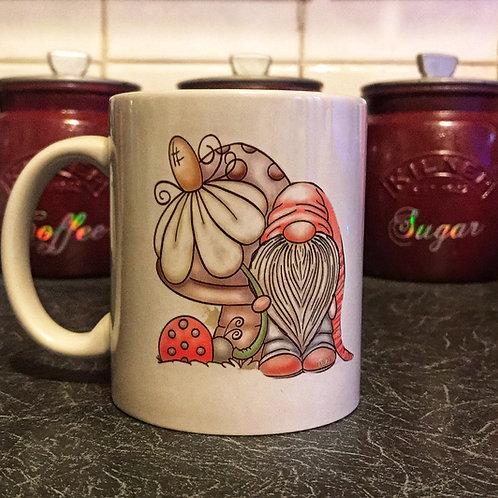 Spring time Gnome with flower Mug