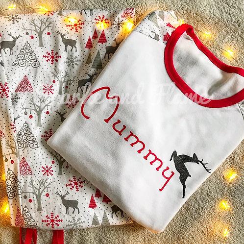 Reindeer Christmas Family Pyjamas - adults