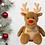 Thumbnail: Personalised Snowman or Reindeer Plush toy