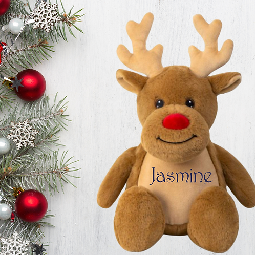 Personalised Snowman or Reindeer Plush toy