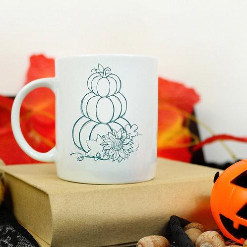 Stacked Pumpkins mug