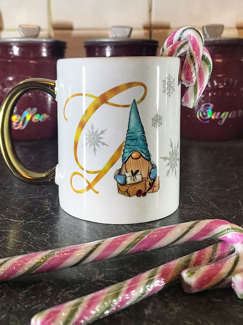Initial Gnome Mug - choose your colour gnome
