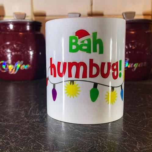 Bah Humbug with lights Mug