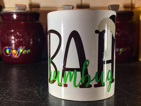 Bah Humbug with hat mug