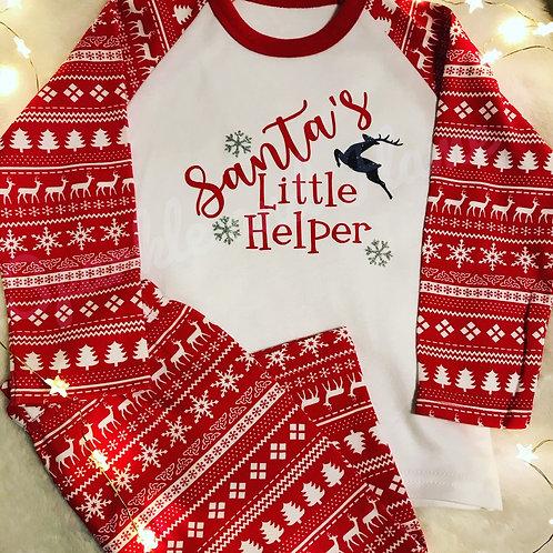 Santas Little helper Christmas Pyjamas