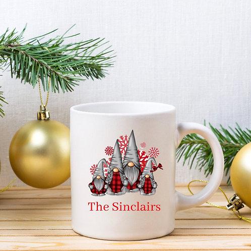 Personalised Family Gnome Mug