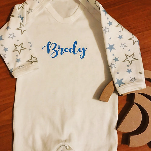Personalised Star Babygrow