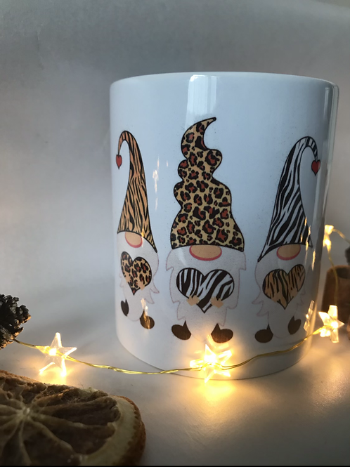 Animal print Gonks mug