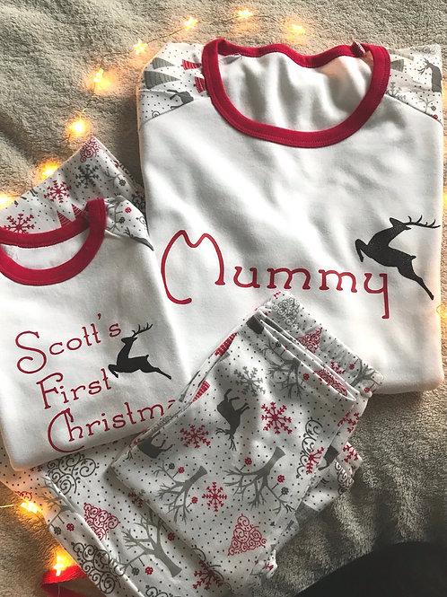 Reindeer Christmas Family Pyjamas - kids
