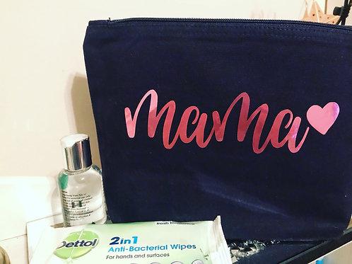 Mama cotton canvas accessory bag