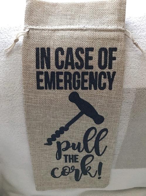 Pull the Cork bottle bags