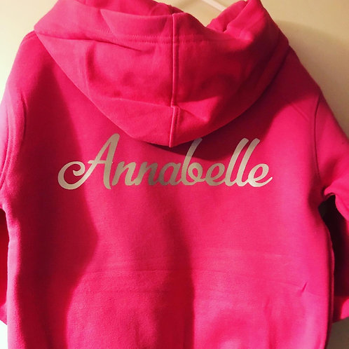 Children's personalised hoodie