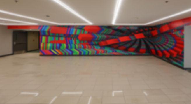 Casino Stacks Mural actual photo in situ