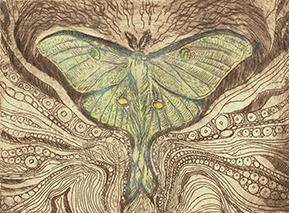 Luna Moth Sonnet