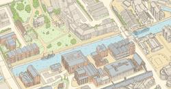 Exceprt from full city map of Gloucester City, UK