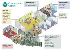 Isometric Community Centre Poster Design