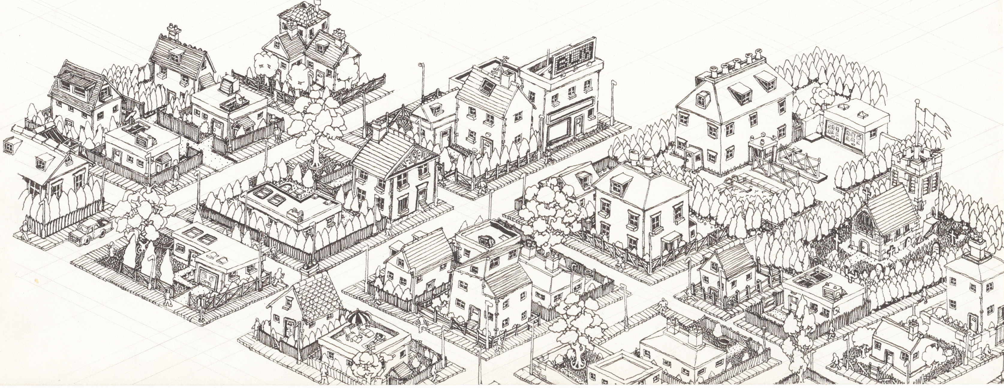 isometric townscape study