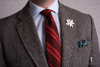 Brown-Donegal-Tweed-with-Donegal-Tie-Sil