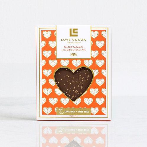 Salted Caramel Milk Chocolate Bar By Love Cocoa by James Cadbury