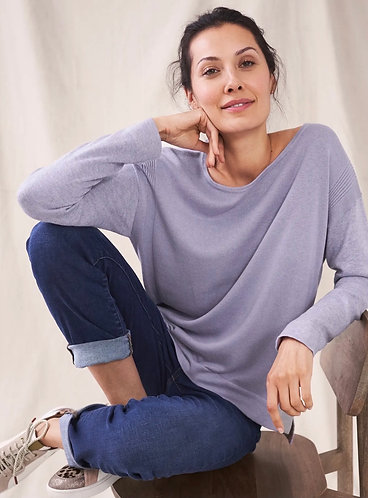 Olivia Jumper in Purple With Orange Detailing by White Stuff
