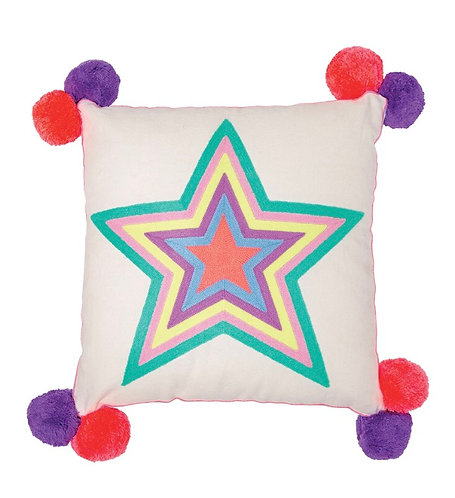 Multicoloured Star Square Cushion by Bombay Duck