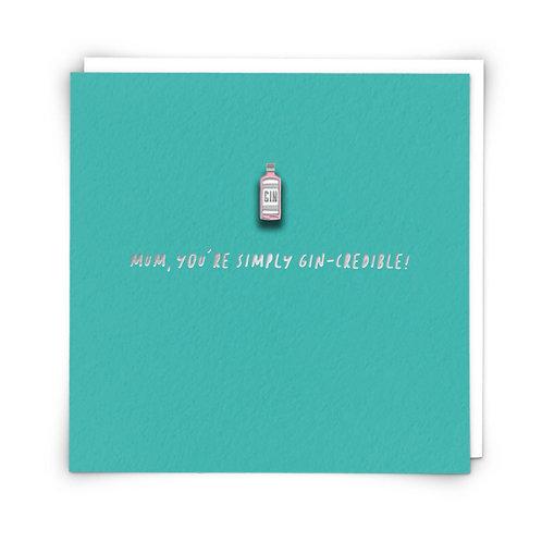 Mum Gin Pin Card by Redback Cards