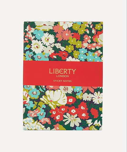 Hardbound Floral Sticky Notes By Liberty of London