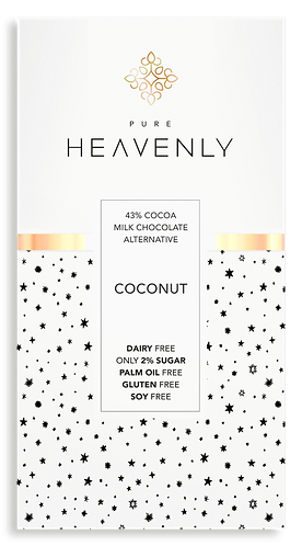 Coconut Chocolate Bar 85g by Pure Heavenly