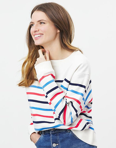 Monique Striped Crew Neck Sweater by Joules