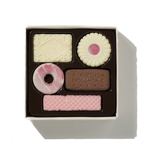 Solid Belgian Chocolate Mini 'Biscuits' by Choconchoc