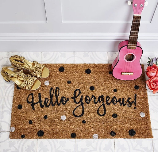 Hello Gorgeous Doormat by Bombay Duck London