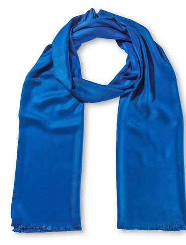 Stunning Indian Woven Scarf In Nautical Blue