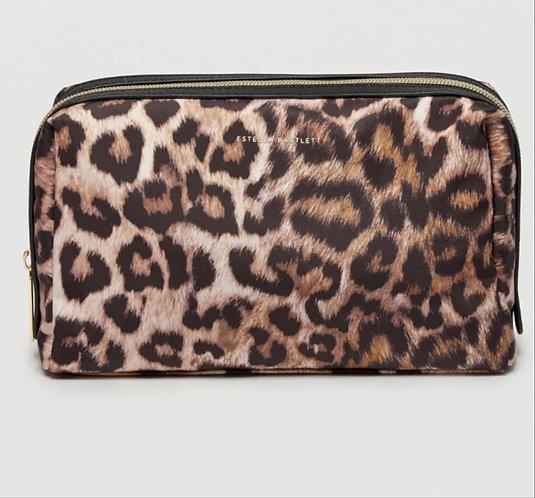 Leopard Print Travel Clutch / Wash Bag by Estella Bartlett