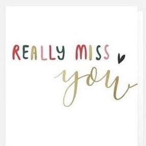 Really Miss You Card by Caroline Gardner