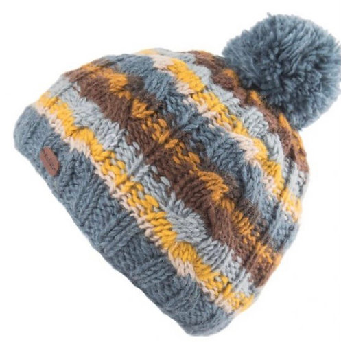 Icelandic Style Bobble Hat With Recycled Fleece by Kusan London