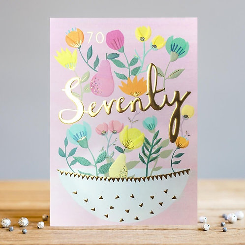 Seventieth Birthday Card by Louise Tiler