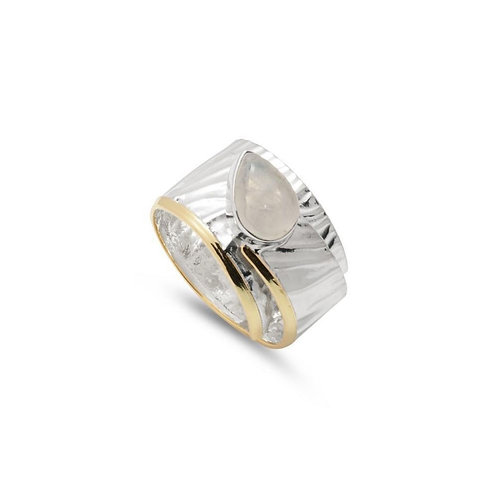 Sterling Silver Wraparound Moonstone Adjustable Ring