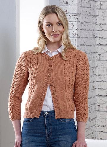 Knitting Pattern Ladies  Sienna Cardigan DK by Cygnet Yarns