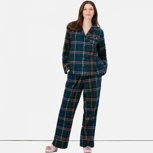 Soft Brushed Cotton Military Tartan Pyjamas by Joules