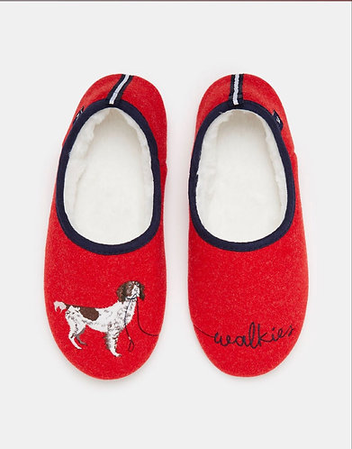 Red & Navy Walkies Slippers By Joules