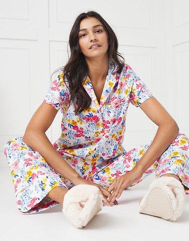 Sundown Short Sleeve Cosy Pyjamas by Joules